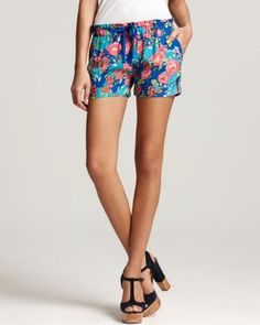 Short shorts can't be slutty if they are floral. I need!