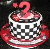 Image detail for -Cars theme checker flag birthday cake for 2-year-old.JPG