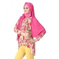 FAZILA  DEEBA PINK  Rp 199,900.00  Warna:Biru, Kuning, Ungu & Pink  II www.fashionbiz.co.id Muslim, Pink, Fashion, La Mode, Islam, Fashion Illustrations, Fashion Models