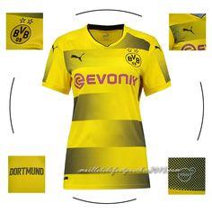cd7e7eff avis site maillot foot Dortmund 2017 2018 domicile femme avec flocage
