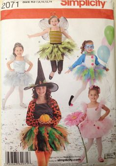 Simplicity 2071  Girl's Tutu Costume Collection  by LeftHandSaber