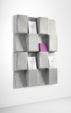 Jonas Forsman - Window is totally modular, giving both display opportunities and sound relief to the wall. The module is made of molded felt and has a sound-absorbing filling.