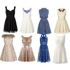 un ensemble des robes de soirée