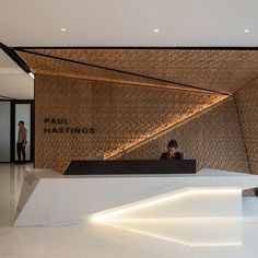 Gensler São Paulo Named Best of Competition for 2017 Best Interiors of Latin America & Caribbean Competition Office Space Design, Office Interior Design, Best Interior, Office Interiors, Home Interior, Modern Interior, Modern Furniture, Reception Desk Design, Lobby Reception
