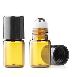 Grand Parfums Empty 2ml Amber Glass Micro Mini Rollon Dram Glass Bottles with Metal Roller Balls - Refillable Aromatherapy Essential Oil Roll On - Bulk - 1/2 Dram Pack of 6 -, http://www.amazon.com/dp/B00XWRPLMK/ref=cm_sw_r_pi_awdm_fMp5wb1QGCJ67