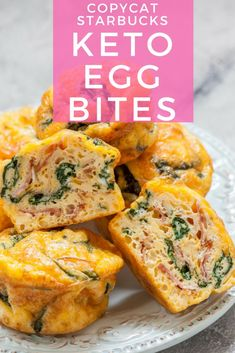 Copycat Oven-Baked Starbucks Keto Egg Bites - Let's Do Keto Together! Starbuck's egg bites might seem Keto but they are loaded with carbs! Up to 13 grams! My Keto egg bites are easy to make, delicious & cheap to make! Ketogenic Recipes, Low Carb Recipes, Diet Recipes, Healthy Recipes, Copycat Recipes, Diabetic Recipes, Baking Recipes, Easy Recipes, Keto Diet Plan