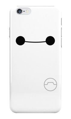 Add a cute huggable exterior to your phone case! A great late minute Christmas gift. Big Hero 6 Six Baymax white plastic phone by SnarkySharkStudios!
