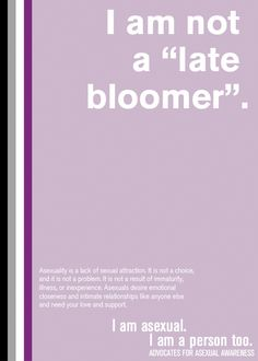 Late bloomer vs asexual definition