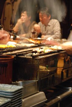 Yakitori at Birdland, Tokyo. The only yakitori place with a Michelin star.
