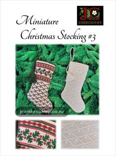 Traditional counted thread embroidery techniques taught through simple projects, clear comprehensive diagrams and photographs. Miniature Christmas, Red Christmas, Christmas Stockings, Chocolate Bars, Candy Canes, Embroidery Techniques, Easy Projects, Small Gifts, Miniatures