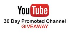 Win a 30 Day Promoted YouTube Channel from SubHub