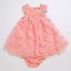 Infant Rosette Dress and Panty - Nannette Baby - Events