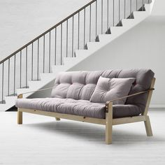 Schlafsofa Poetry - Pinie massiv/Webstoff