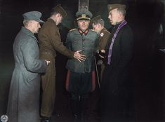"""History Everyday on Instagram: """"Nazi General Anton Dostler is tied to a stake by American troops in preparation for his execution by firing squad in 1945. He was shot by a…"""" Colorized Historical Photos, Historical Pictures, Execution By Firing Squad, Major General, History Images, Prisoners Of War, German Army, Moving Pictures, Mug Shots"""