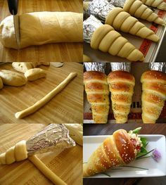How to make bread cones recipe handy homemadeFill the bread cone with salad or anything you like yummy recipe gt http wonderfuldiy com wonderful diy yummy bread cones diy breadcone – ArtofitBread cones, bake as directedHeyy burdamısınız arkadaslar B Yummy Recipes, Baking Recipes, Dessert Recipes, Easter Recipes, Disney Food Recipes, Bread Recipes, How To Make Bread, Food To Make, Bread Cones