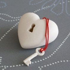 Valentines day-Heart shaped Lock and key carved from soap http://pinterest.com/nfordzho/soaps/