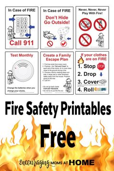 Great Free Fire Safety Posters With A LEGO® Theme Design