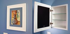 Recessed Medicine Cabinets with Picture Frame Doors | Mirrorless Medicine Cabinets - Concealed Cabinets