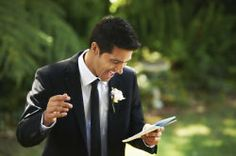 Who does the groom thank at a wedding?