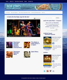 Awful Arthur's Seafood Company.  Customized WordPress theme with extensive use of plugins, search engine optimization, and search engine submission. Social media by the Social Buzz Lab at http://www.webuildbuzz.com.