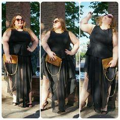 On adore @aurelie.crea.9 dans sa jupe longue famaiks.com #celebratemysize #frenchcurves #challenge #teamronde #curvygirl #curvy #mannequingrandetaille #chic #plussize #plussizeblogger #pulpeuse #ronde #jupe #ete #elegant @famaiks