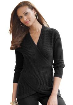 $36.09 - $38.59 awesome Jessica London Women's Plus Size Sweater With Crisscross Front