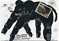 Envelope with a magnificent elephant