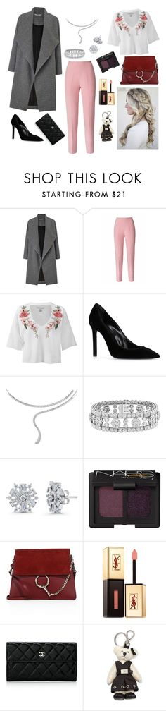 """""""Flow with the ocean."""" by bunnisexy ❤ liked on Polyvore featuring Miss Selfridge, Esme Vie, Sans Souci, Yves Saint Laurent, Damiani, Van Cleef & Arpels, BERRICLE, NARS Cosmetics, Chloé and Chanel"""