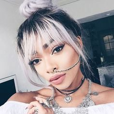 Have you ever wanted a septum piercing but didn't think you could pull it off? These cute septum piercing pictures will definitely change your mind! Piercings, Beauty Makeup, Hair Makeup, Hair Beauty, Hair Inspo, Hair Inspiration, Nyane Lebajoa, Short Hair Styles, Natural Hair Styles
