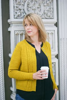 Southwell Cardigan by Marie Greene [Olive Knits]. Top-down, seamless knitting pattern.