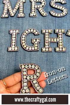 Personalise your clothes in minutes with iron on glam letters Low Cost Wedding, Wedding Decorations On A Budget, Absolutely Fabulous, Tight Budget, Some Ideas, Monogram Letters, Iron, Clothes, Budget Wedding Decorations