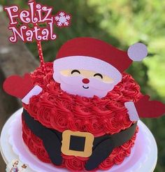 Topos de natal Christmas Cake Designs, Christmas Cake Decorations, Christmas Goodies, Christmas Desserts, Mini Cakes, Cupcake Cakes, Sheet Cake Designs, Pull Apart Cake, Winter Treats