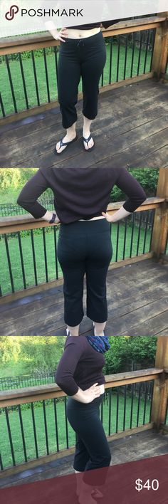 Lululemon Black Drawstring Workout Capris - 6 These are a great basic, comfortable workout pant to add to your collection! Lululemon brand, size 6. Gently used with light wear. They feature a Drawstring and a cute back pocket. 16may17beko lululemon athletica Pants Capris