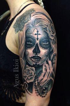 Muerte tattoo art
