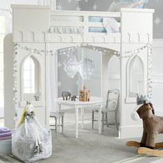 Castle Loft Bed - a little girls dream bed