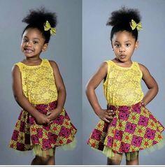 (via Ankara Designs for Girls Dresses and Boys Clothing) Girls dresses, boys clothing, baby designer clothe, african wear for kids, ankara styles and fashion. African Attire, African Wear, African Dress, African Inspired Fashion, African Print Fashion, African Prints, Toddler Fashion, Kids Fashion, Woman Fashion