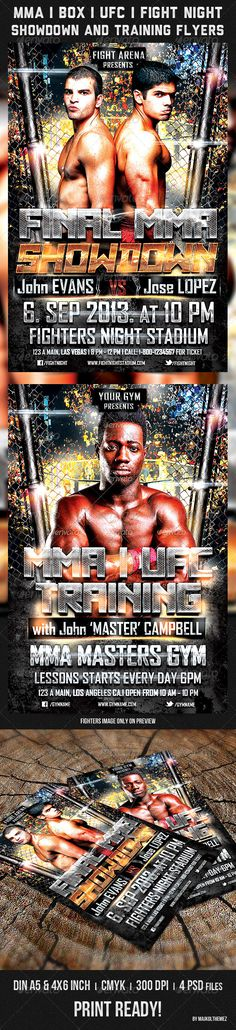 Fight Night V Flyer Template  Fight Night Flyer Template And Fonts