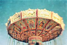 Carnival photography Swings fine art print by VintageChicImages, $30.00  #wallart #homedecor #carnival #swings #fair