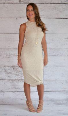 Mock Neck Ribbed Midi Dress – Trend Traveler Boutique