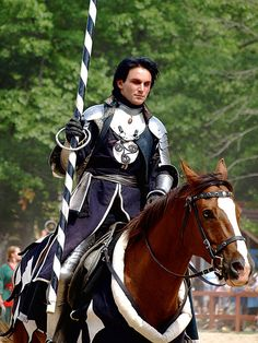 Jousting by dank1012, via Flickr (knight, armor, horse, medieval, black hair)