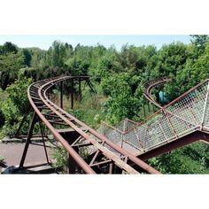 Abandoned Amusement Park ❤ liked on Polyvore featuring backgrounds
