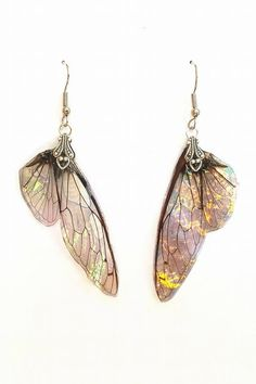 Faerie Wing Earrings DISCOUNTED by KristenJarvisART on Etsy