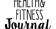 Just Being Britt FREE Health and Fitness Journal Printable Purple