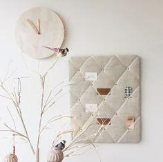 Ivory Linen Memo Board NoticeBoardStore