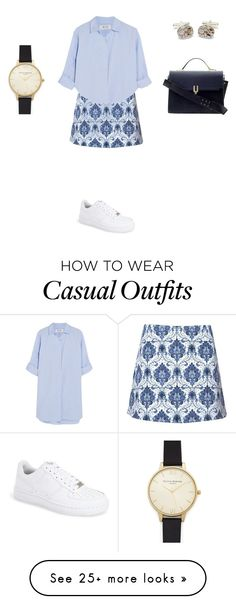 """""""Untitled #699"""" by elenekhurtsilava on Polyvore featuring MiH Jeans, Motel, Pour La Victoire, NIKE and Olivia Burton"""