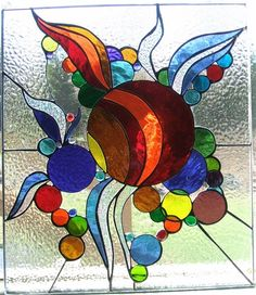 """abstract stained glass """"Birth of Planets"""""""