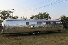 40-ft vintage Western Pacific Airstream by Mali Mish http://malimish.com/blog/2012/08/22/day-19-alumafandango-at-lakeside-colorado/#