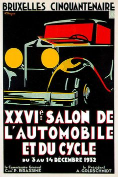 L/'Automobile au GRAND PALAIS vintage ad poster G Rochegrosse 24X36 hot NEW