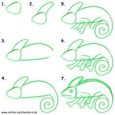 Mit Kindern zeichnen - Zeichenanleitung für Eltern: Dschungelbild