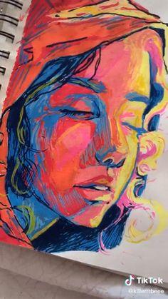 Art Drawings Sketches Simple, Pencil Art Drawings, Pintura Graffiti, Abstract Face Art, Posca Art, Art Sketchbook, Portrait Art, Aesthetic Art, Art Tutorials